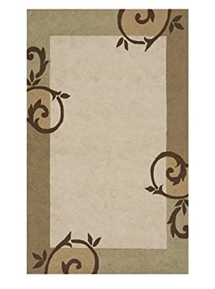Momeni Veranda Indoor/Outdoor Rug, Cream, 9' x 9'