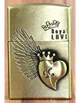 Designer Butane Flame Refillable Metal Cigarette Lighter In Antique Finish-LIT143