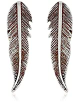 "Bing Bang ""Cherokee Feather"" Silver Earrings"