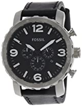 Fossil Nate Chronograph Black Dial Men's Watch - JR1436