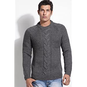 Fcuk Grey Full Sleeves Men - Sweaters Pullovers