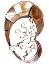 Exotic India Abalone Pendant - Sterling Silver