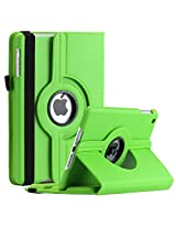 SAVEICON iPad Air 2 (iPad 6 , Released 2014) Case - Green PU Leather Case 360 Degree Swivel Rotating Magnetic Lychee Folio Case Cover Stand for Apple iPad Air 2 / iPad 6 6th Gen Tablet with Sleep and Wake Function