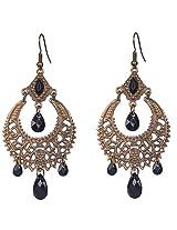 Saadi Gali Copper Dangle and drop Earring For Women (Metallic)