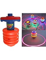 Laser Spinning Top with LED Light and Sound by Mannat Collections