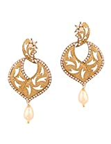 Touchstone antique gold plated classical earrings DGET-517-08A--G 01