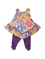 Little Kangaroos Baby-Girls Multi Color Dress (8903208876164_Multi-Coloured_12-18 Months)