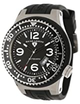 Swiss Legend Men's 11819A-01-W Neptune Automatic Black Dial Black Silicone Watch