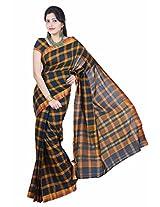 Manisha South Cotton Zari Green Handloom Saree (6.2 mtrs)