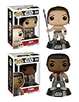 Funko Pop! Star Wars: Episode Vii Rey & Finn Vinyl Bobble Heads 2 Pack New