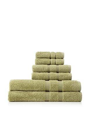 Esplama 6-Piece Mandarin Bath Towel Set, Jade Green