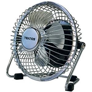 【クリックで詳細表示】TEKNOS マグネット扇風機 シルバー MG-9 35291