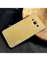 TheGiftKart Motomo Premium Brushed Metal Hard Back Case Cover for Samsung Galaxy A5 SM-A500 SM-A5000 - Golden