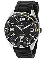 Tommy Hilfiger Men's 1790978 Cool Sport Aluminum Bezel and Black Dial Watch