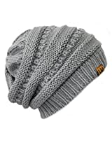 Wrapables Knitted Slouchy Beanie Beret, Gray, Gray