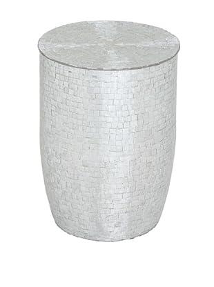 Uma Mosaic Stool, Silver