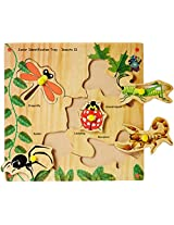 Skillofun Wooden Junior Identification Tray Insects I with Knobs, Multi Color
