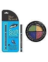 BLUE HEAVEN Eye Magic Eye Shadow 604 & BH Kajal Liner Combo