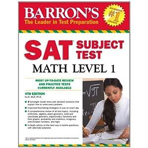 SAT Subject Test Math Level 1 (Barron's Sat Subject Test Math Level 1)