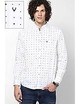 White Printed Custom Casual Shirt