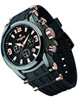 Lancaster Trendy Rubber Strap Analogue Black Men's Wacth-OLA0548BK/NR/RG/NR