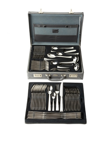BergHOFF Steelo 72-Piece Polished Flatware Set, Silver