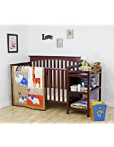 Dream On Me 3 Piece Crib Bedding Set, Jungle Babies