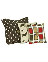 Cotton Tale Designs 3 Pack Houndstooth Pillow