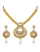 Meenaz Traditional Necklace Sets Jewellery Sets Gold Plated With Earrings For Women,Girls NL115