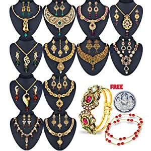 Amrapali 1 Gram Gold Plated 12 Jewellery Set