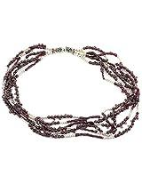 925-Silver Garnet Princess Gemstone Necklace For Women 11616