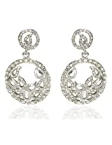 Kshitij Jewels Silver Metal Dangle & Drop Earrings For Women (KJ 279)
