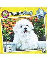 Puzzle Bug 100 Piece Puzzle ~ Maltese Puppy