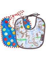 Taffeta Bib 2 pk Newborn Boy Size , Newborn