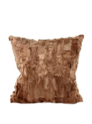 Upcycled Cowhide Pillow, Brown, 18