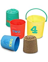 Melissa and Doug Seaside Sidekicks Nesting Pails - Pack of 4 Pieces