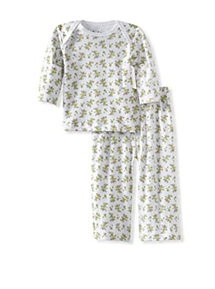 Margery Ellen Baby Pima Cotton Tee Set with Print (Rose)