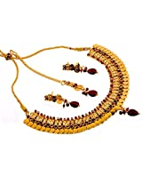 Megh Craft Women Bollywood Style One Gram Gold Plated Lakshmi Coin Jewellery