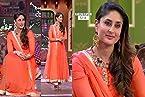 Kareena Kapoor Orange Net Suit