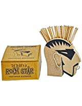 Happily Unmarried Rockstar Toothpick Holder (13.462 cm x 6.35 cm, Black)