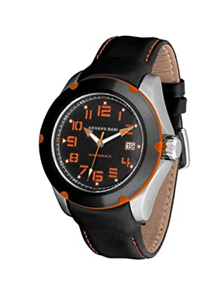 ARMAND BASI A0811G03 - Reloj de Caballero movimiento de cuarzo con correa de piel Negra