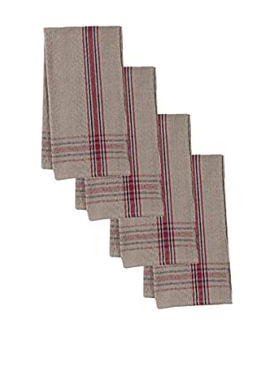 Couleur Nature Set of 4 Khadhi Natural Texture Stripe Napkins