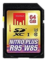 Strontium Nitro Plus 64GB UHS-I U3 Class 10 SDXC Card (SRP64GSDU1)