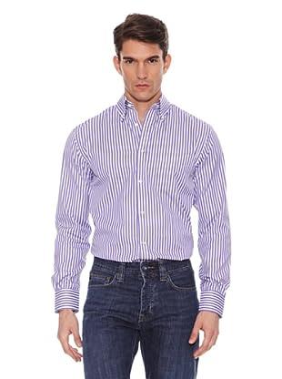 Hackett Camisa Rayas (Morado / Azul)