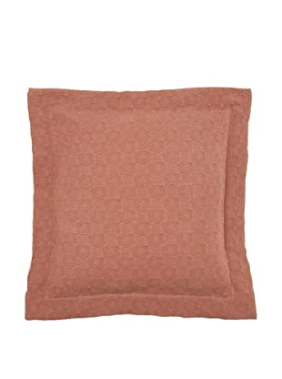 Belle Epoque Rose Coastal Matelassé Euro Sham, Chocolate, 26