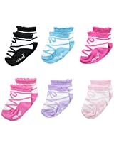 Little Me Baby-Girls 6 Pack Socks Ballet