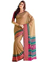 Orbymart Exclusive Designer Raw Silk Multi Colour Printed Saree - 55251366
