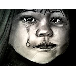 NUCreations Melancholy - Original Painting - Charcoal On Cartridge Paper