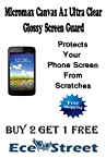 Micromax Canvas A1 Android 1 Ultra Clear Glossy Screen Guard Scratch Guard Protector-ECellStreet