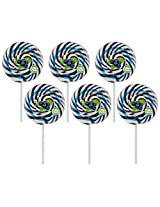 "Kandee Swirl Pop Blueberry Blast 3"" Round (Pack of 6 Natural Colour Candy Lollipop)"